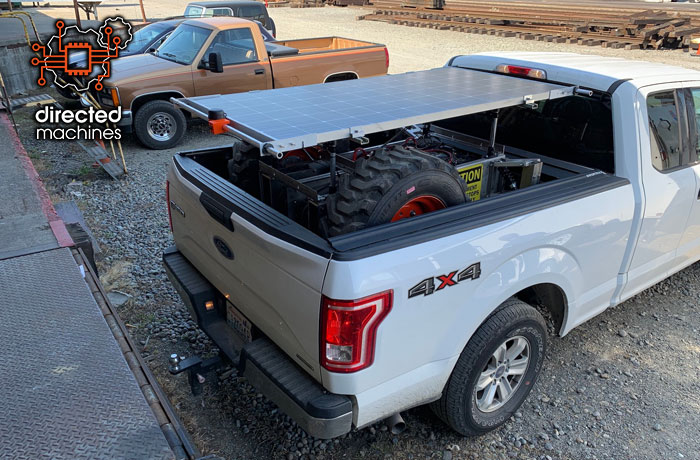 LCR Autonomous Solar Electric Tractor in Pickup Truck