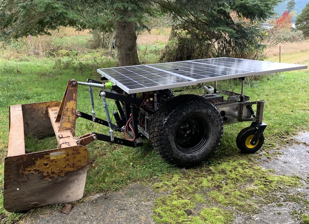 LCR Autonomous Solar Electric Tractor with Box Grader